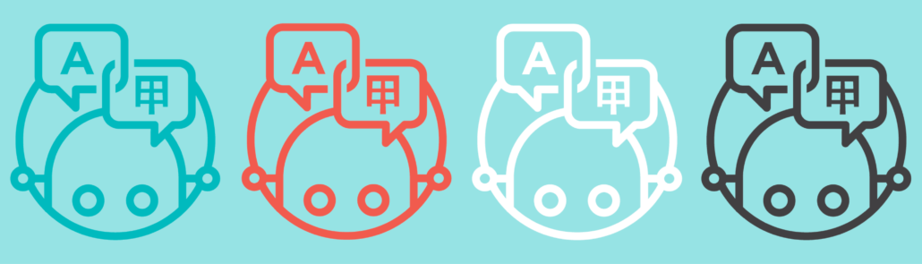Machine translation icons