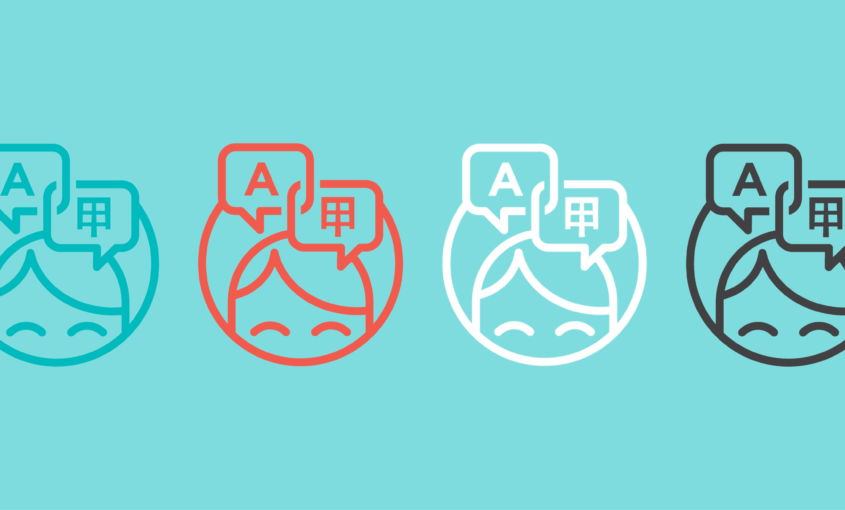 Professional human translation icons